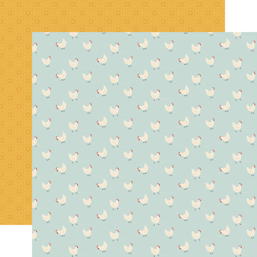 Farmhouse Kitchen: Hungry Hens 12x12 Patterned Paper