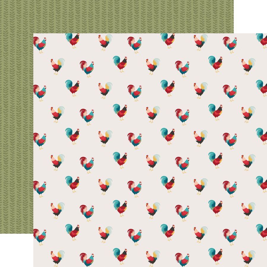Farmhouse Kitchen: Roaming Roosters 12x12 Patterned Paper