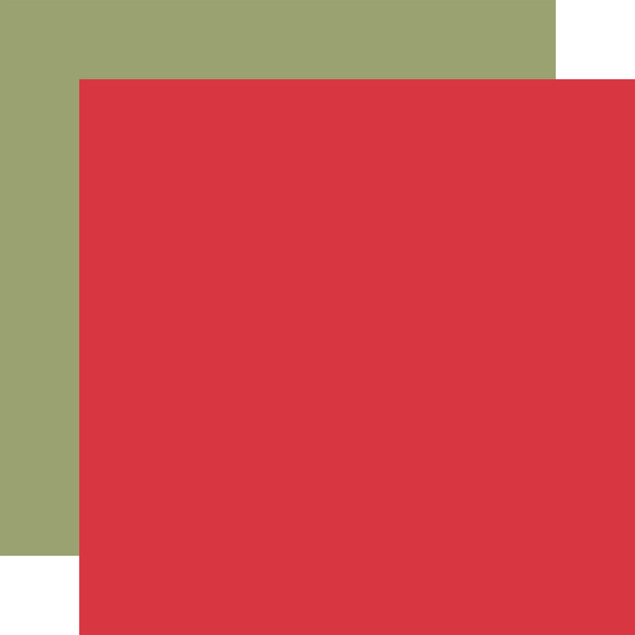 Farmhouse Kitchen: Designer Solids - Red/Green 12x12 Patterned Paper