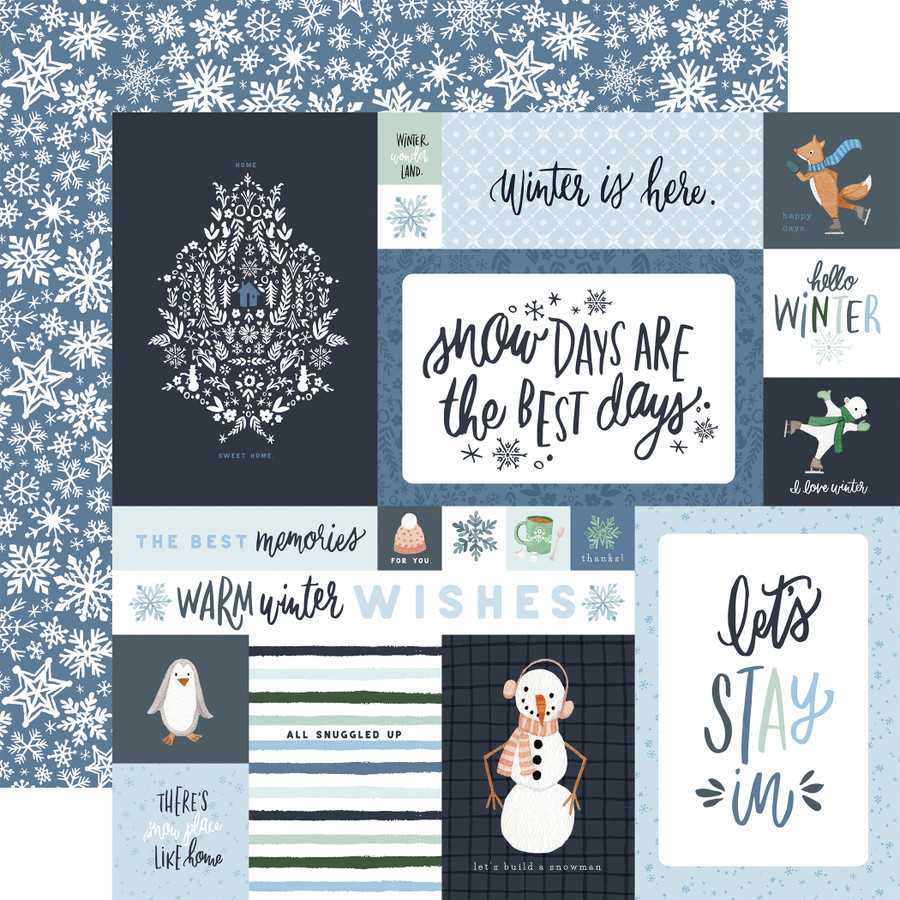 Winter Market: 4x6 Journaling Cards 12x12 Patterned Paper