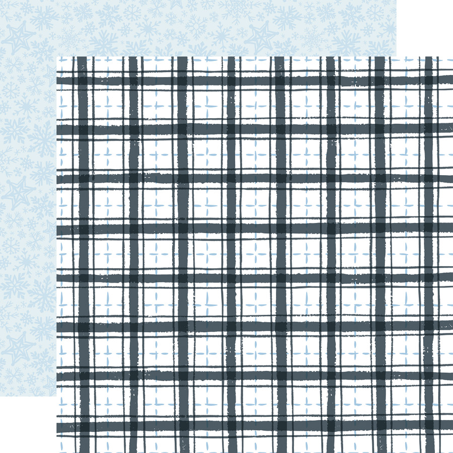 Winter Market: Frosty Plaid 12x12 Patterned Paper