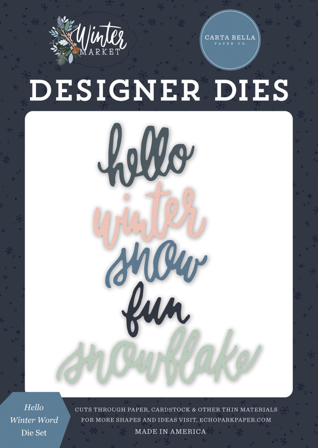 Winter Market: Hello Winter Word Die Set