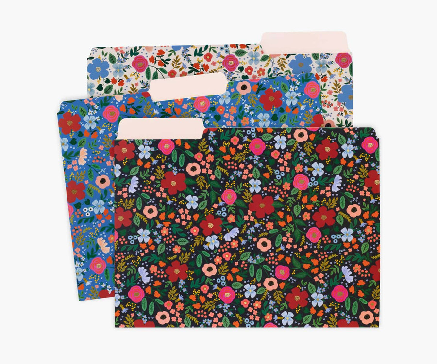 Rifle Paper Co: Wild Rose Assorted File Folders