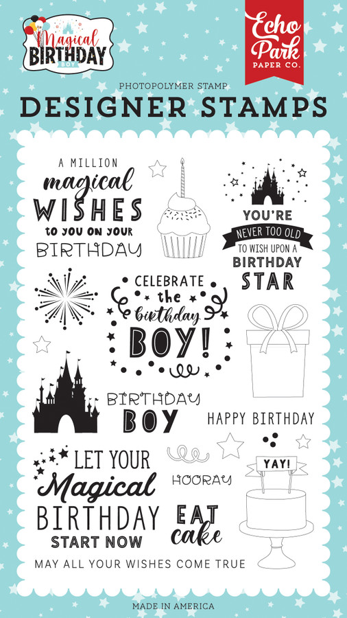 Magical Birthday Boy: Wishes Come True Stamp Set