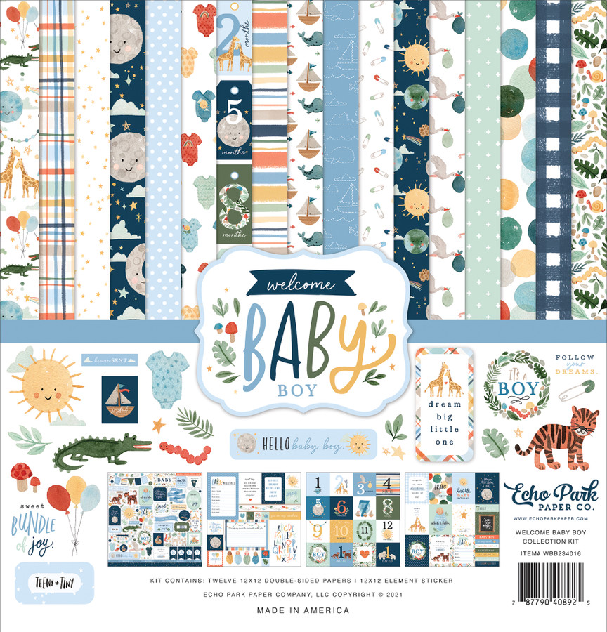 Welcome Baby Boy Collection Kit