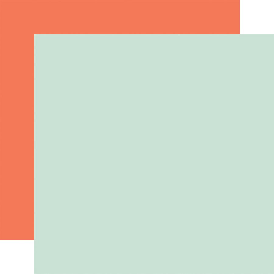 Welcome Baby Boy: Designer Solids - Mint/Orange