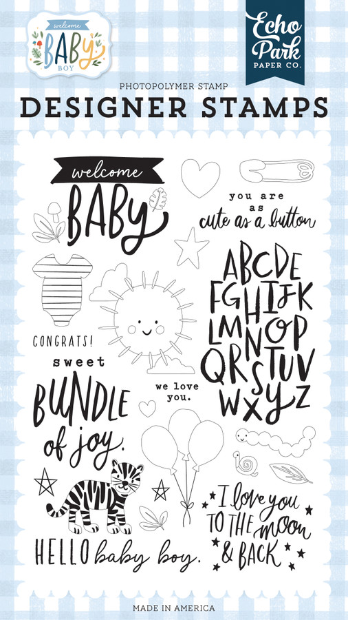 Welcome Baby Boy: Welcome Baby Stamp Set