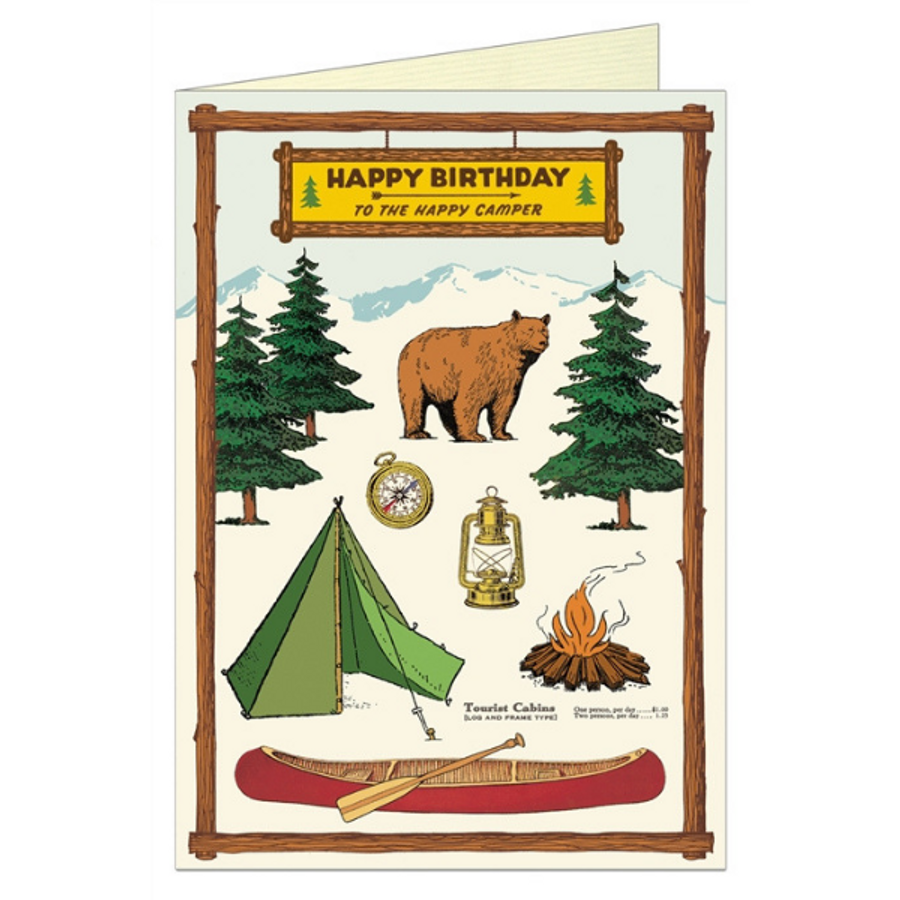 Cavallini & Co: Happy Birthday Camping
