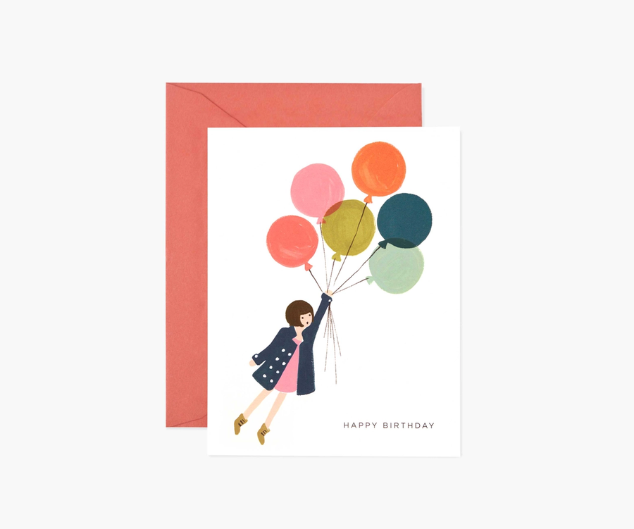 Rifle Paper Co: Fly Away Birthday- Single Card