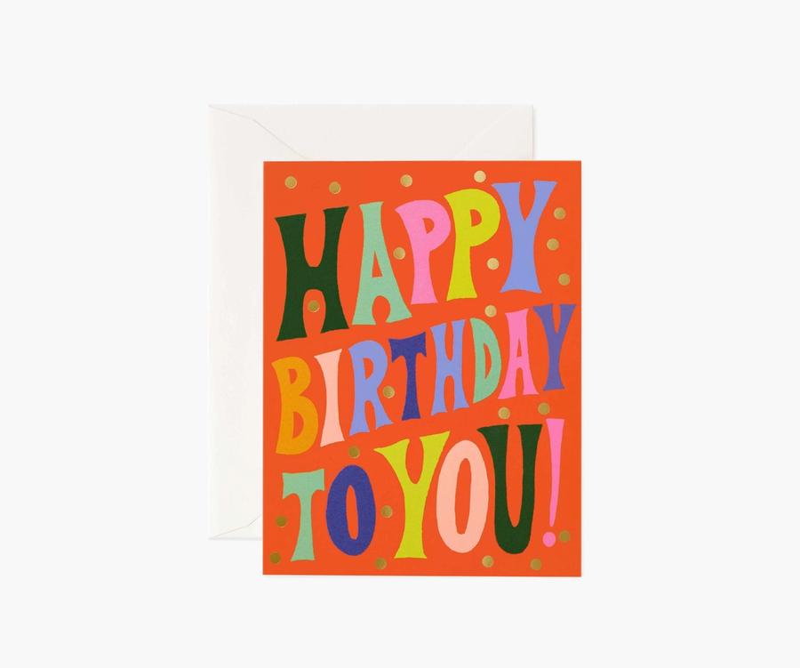Rifle Paper Co: Groovy Birthday- Single Card
