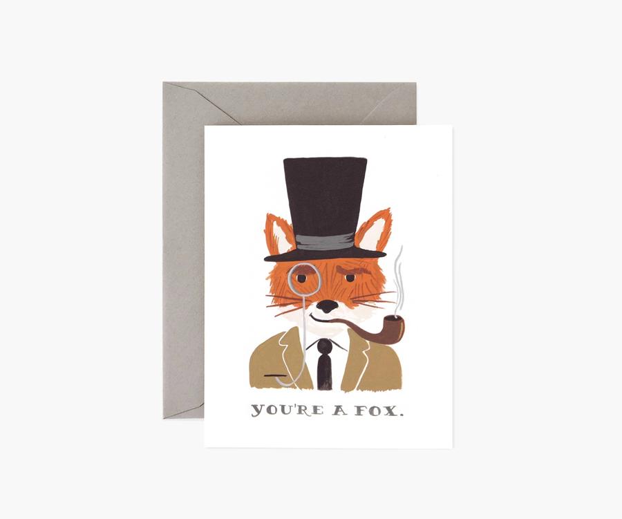 Rifle Paper Co: You're a Fox- Single Card