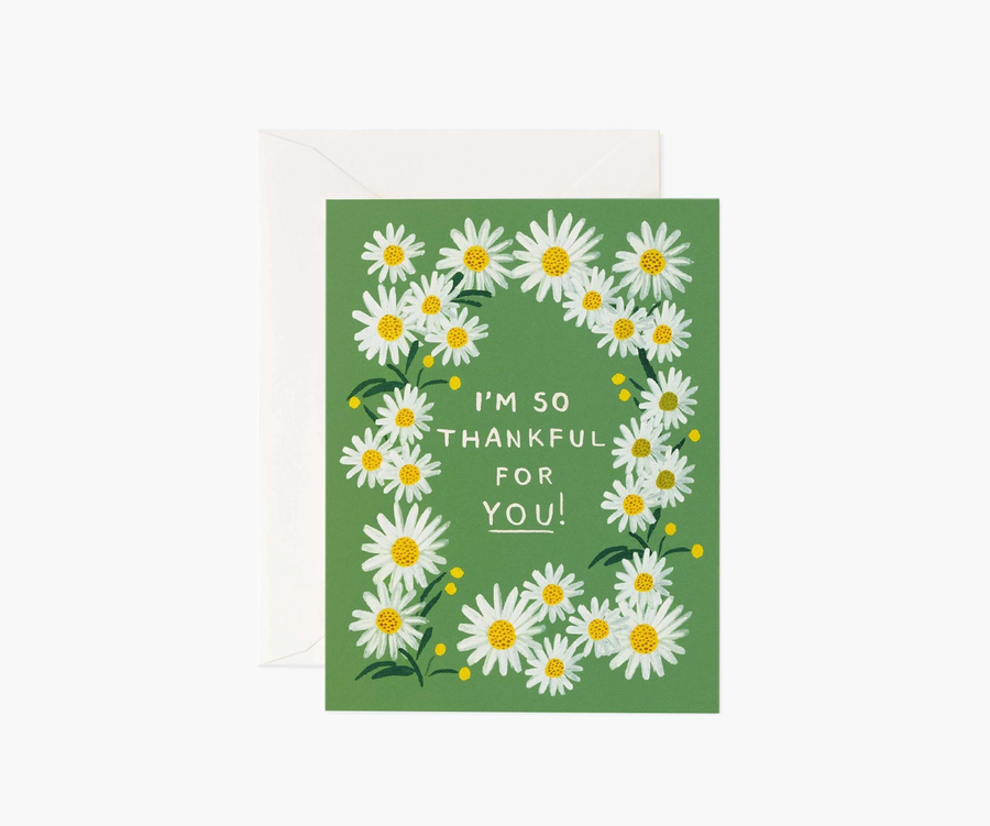 Rifle Paper Co: Daisies Thankful for You