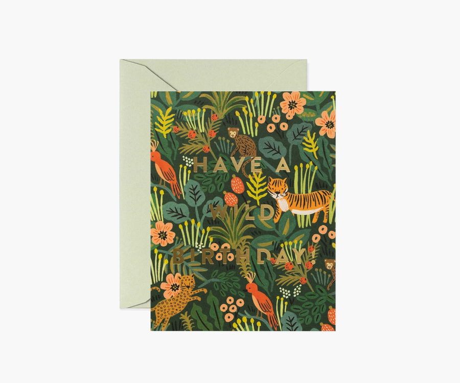 Rifle Paper Co: Wild Birthday- Single Card