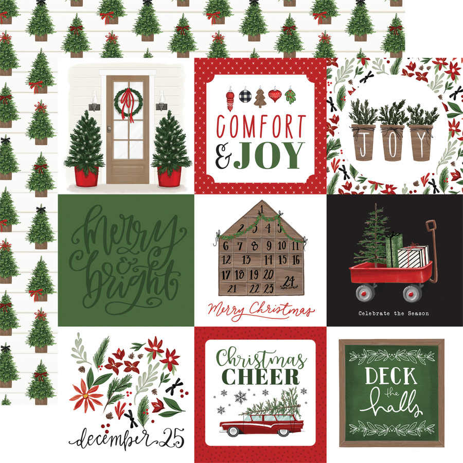 Home For Christmas: 4x4 Journaling Cards