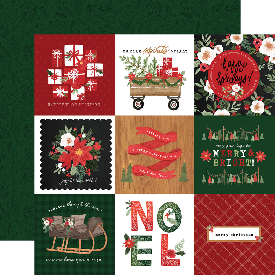 Happy Christmas: 4x4 Journaling Cards