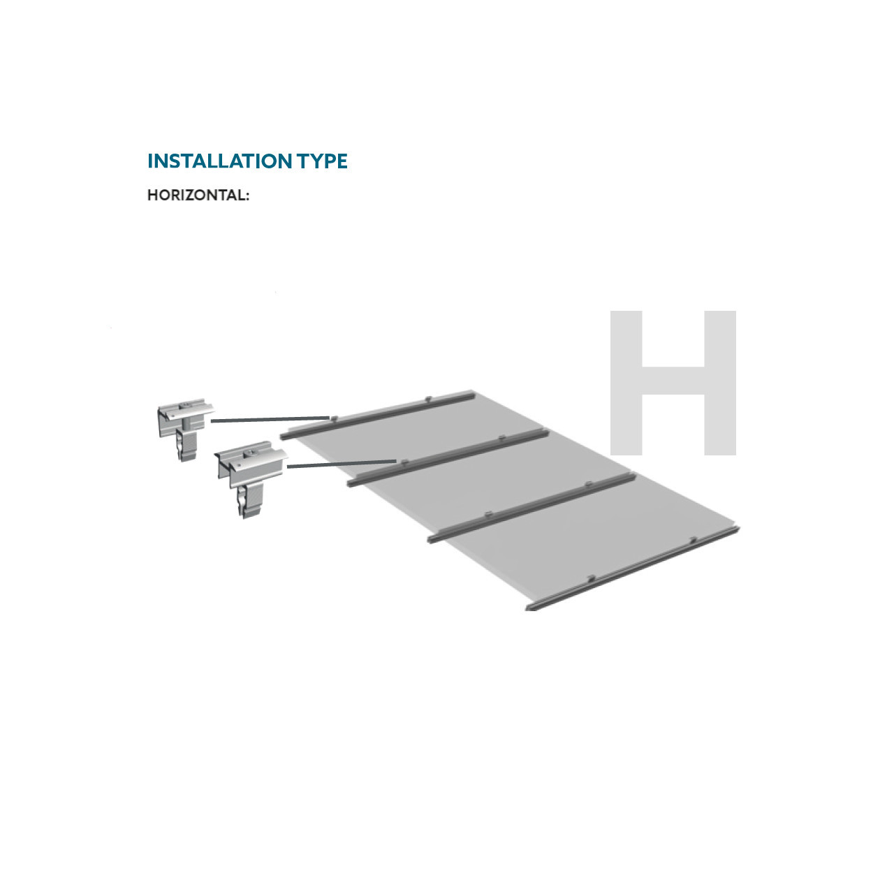 Schletter - Rapid16 End Clamp - Install Horizontal