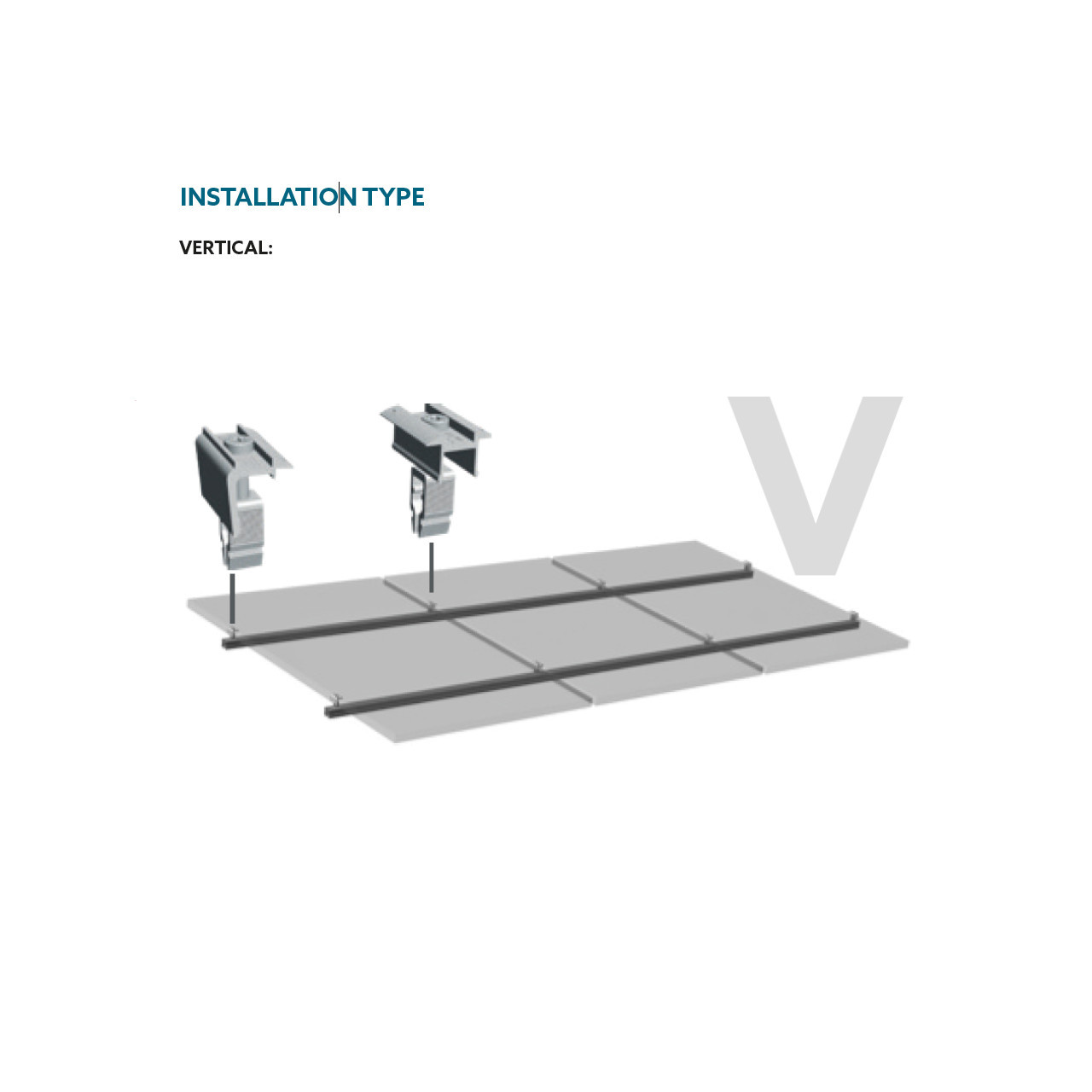 Schletter - Rapid16 Middle Clamp - Install Vertical