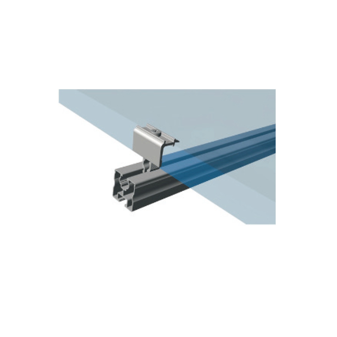 Schletter - Rapid16 Middle Clamp - Installed