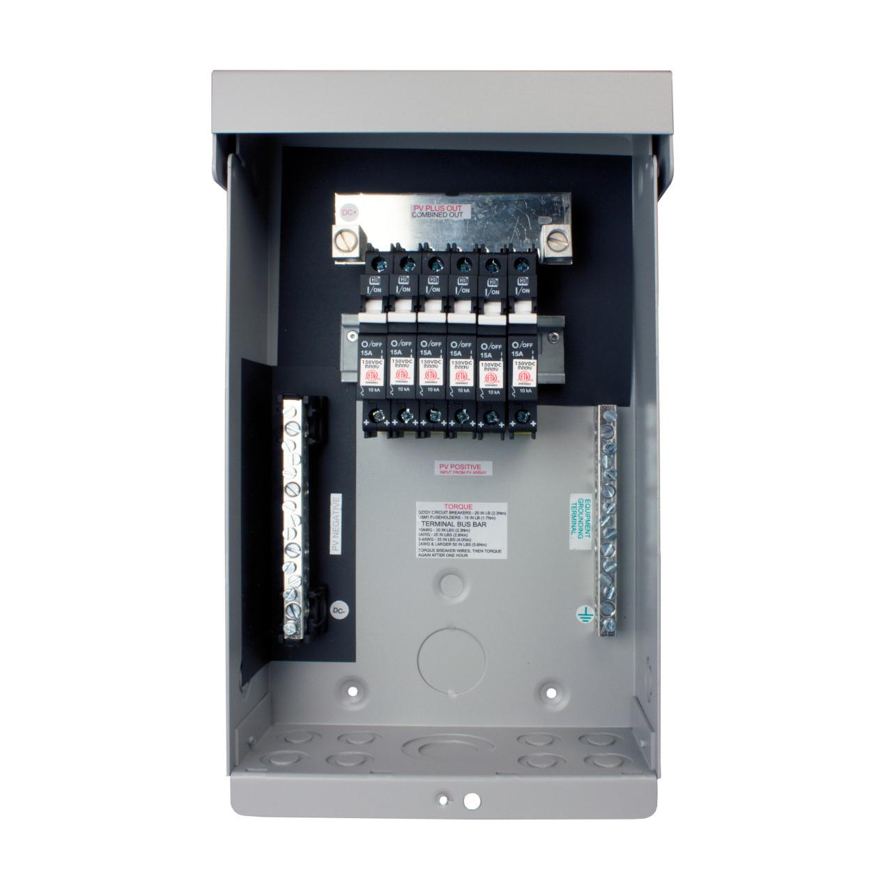 MidNite Solar - MNPV6 DC Combiner Box - Open Breakers