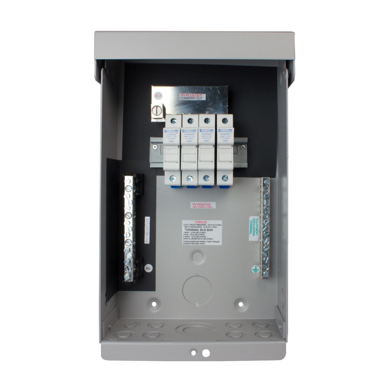 MidNite Solar - MNPV6 DC Combiner Box - Open Fuses