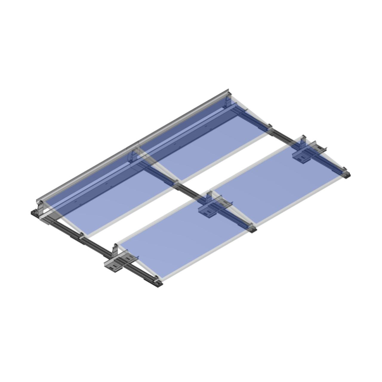 FixGrid10 - South- Transparent Panels