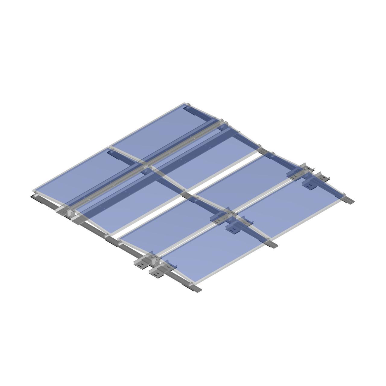 FixGrid5 - East-West - Transparent Panels