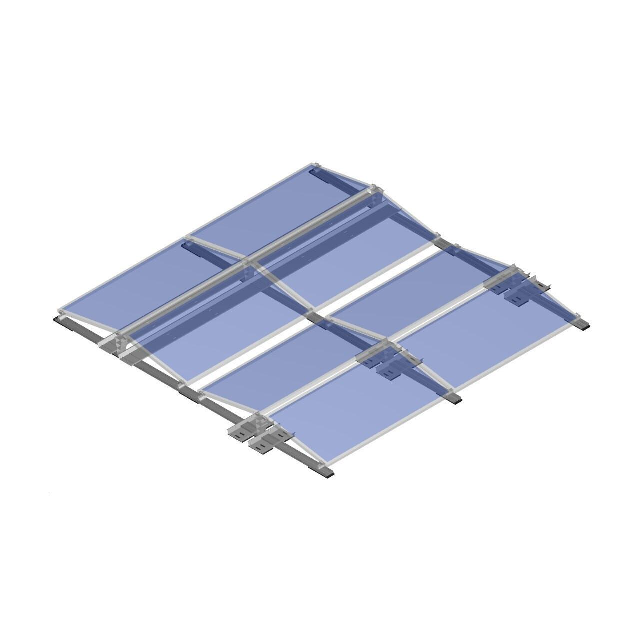 FixGrid10 - East-West - Transparent Panels