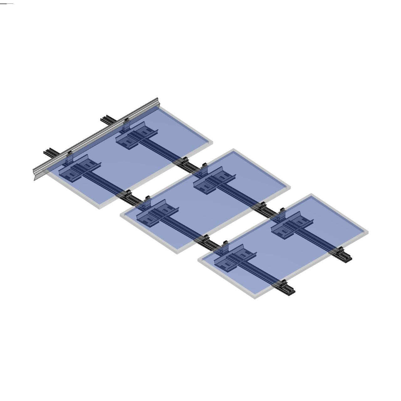 FixGrid5Plus - South- Transparent Panels