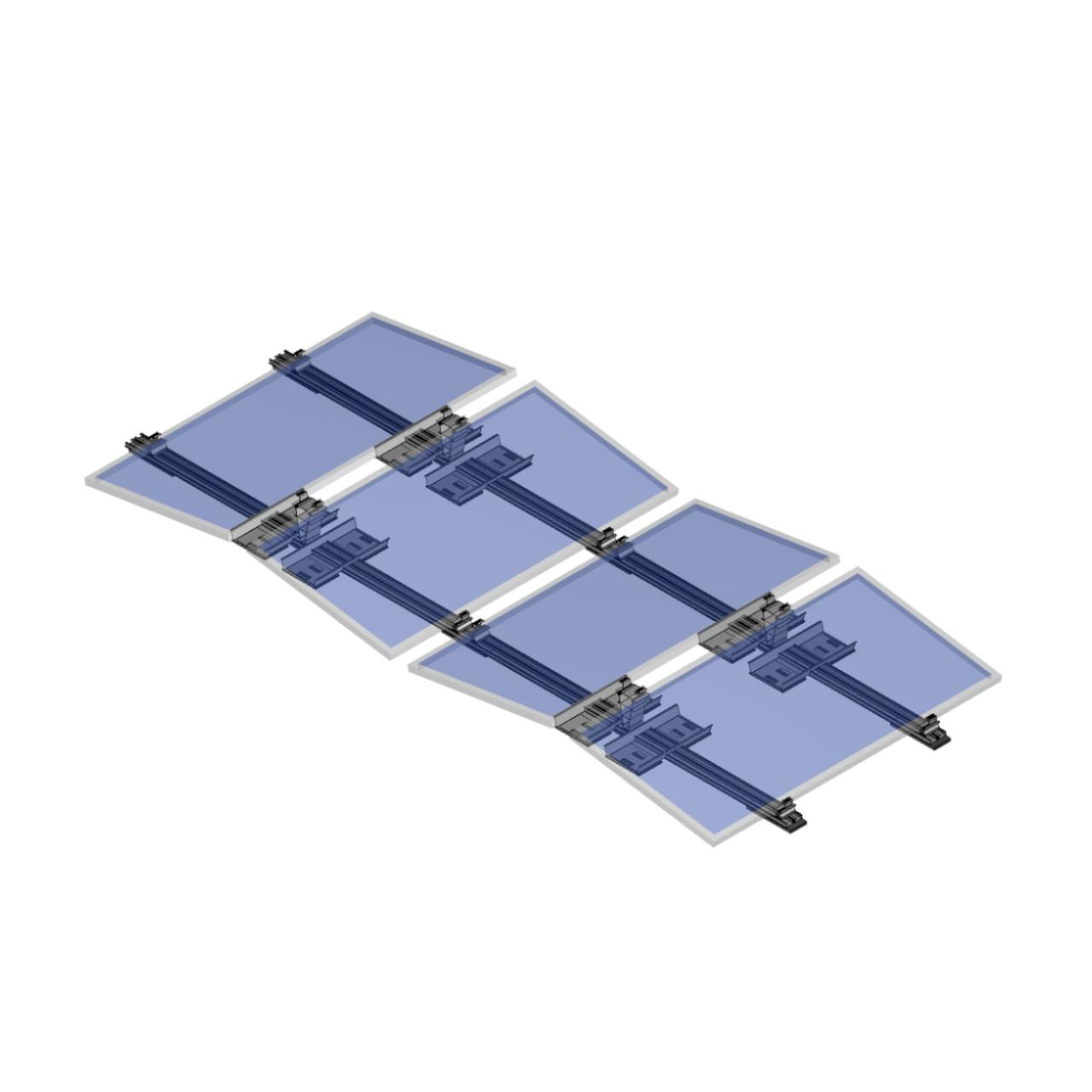 FixGrid10Plus - East-West - Transparent Panels