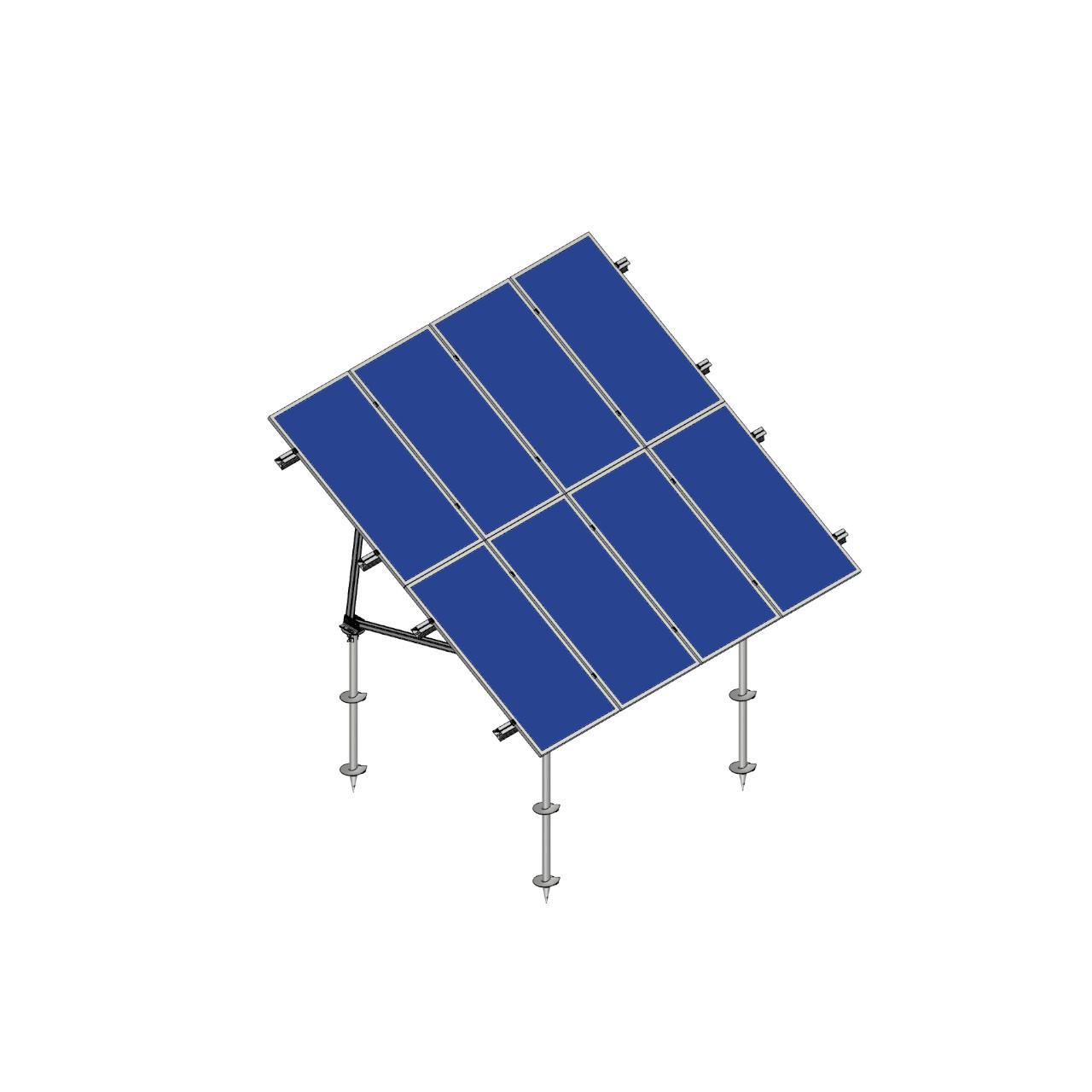 Schletter - PVMax 2Vx6-30deg-Screw-Solid-Panels