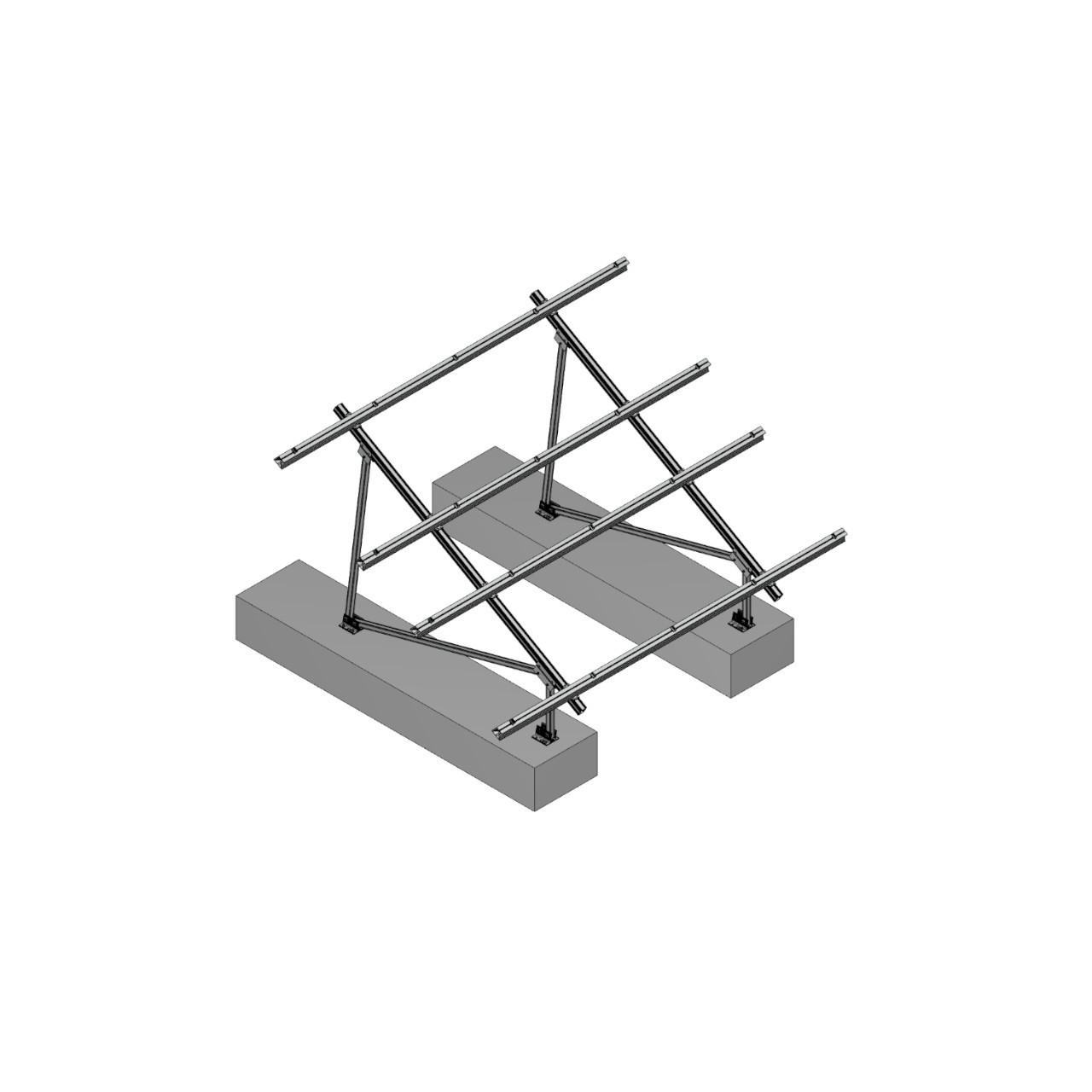 Schletter - PVMax 2Vx6-30deg-Concrete-No-Panels