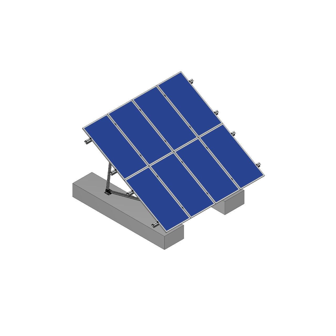 Schletter - PVMax 2Vx6-30deg-Concrete-Solid-Panels