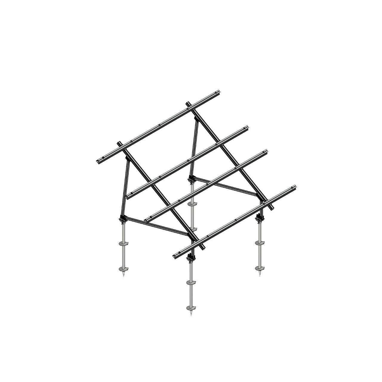 Schletter - PVMax 2Vx6-30deg-Screw-No-Panels