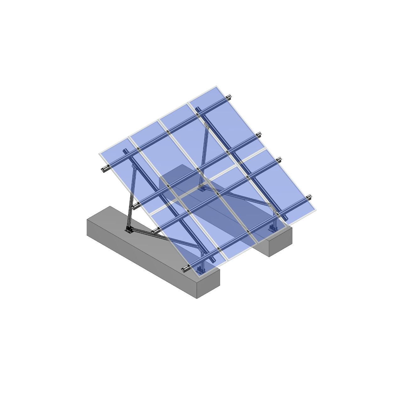 Schletter - PVMax 2Vx6-30deg-Concrete-Transparent-Panels