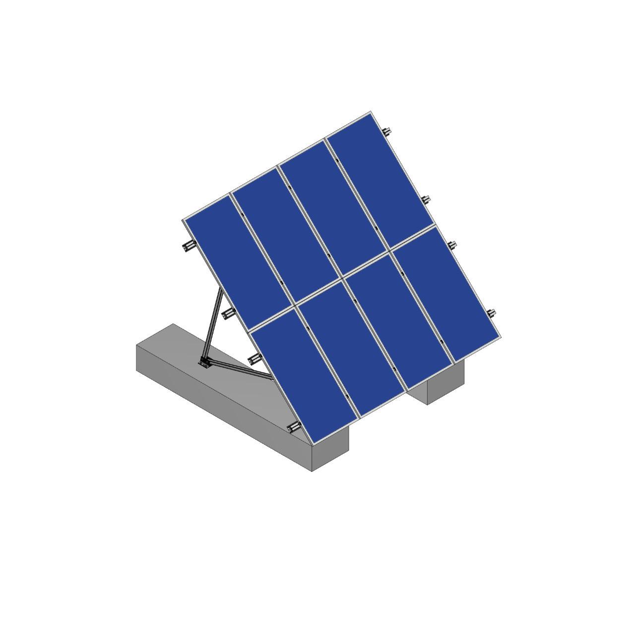 Schletter - PVMax 2Vx4-45deg-Concrete-Solid-Panels