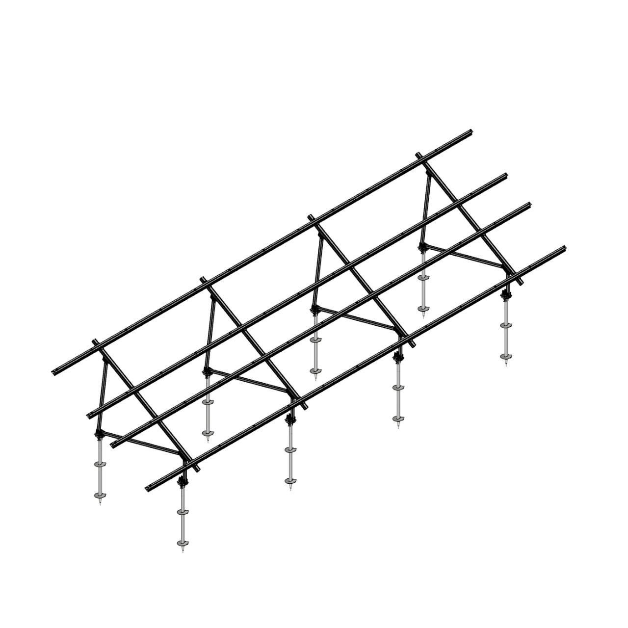 Schletter - PVMax 2Vx12-30deg-Screw-No-Panels