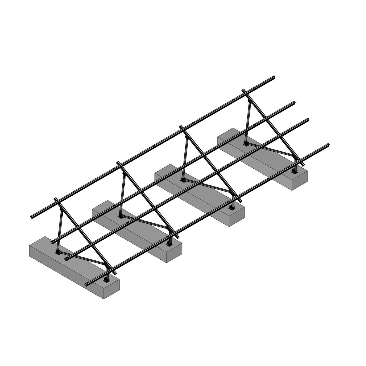 Schletter - PVMax 2Vx12-30deg-Concrete-No-Panels