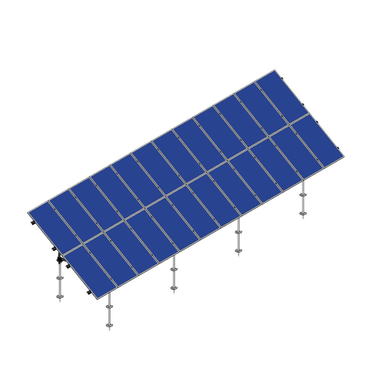 Schletter - PVMax 2Vx12-30deg-Screw-Solid-Panels
