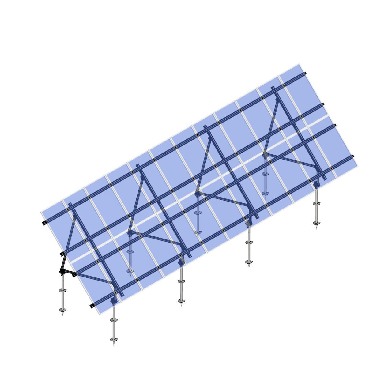 Schletter - PVMax 2Vx12-45deg-Screw-Transparent-Panels