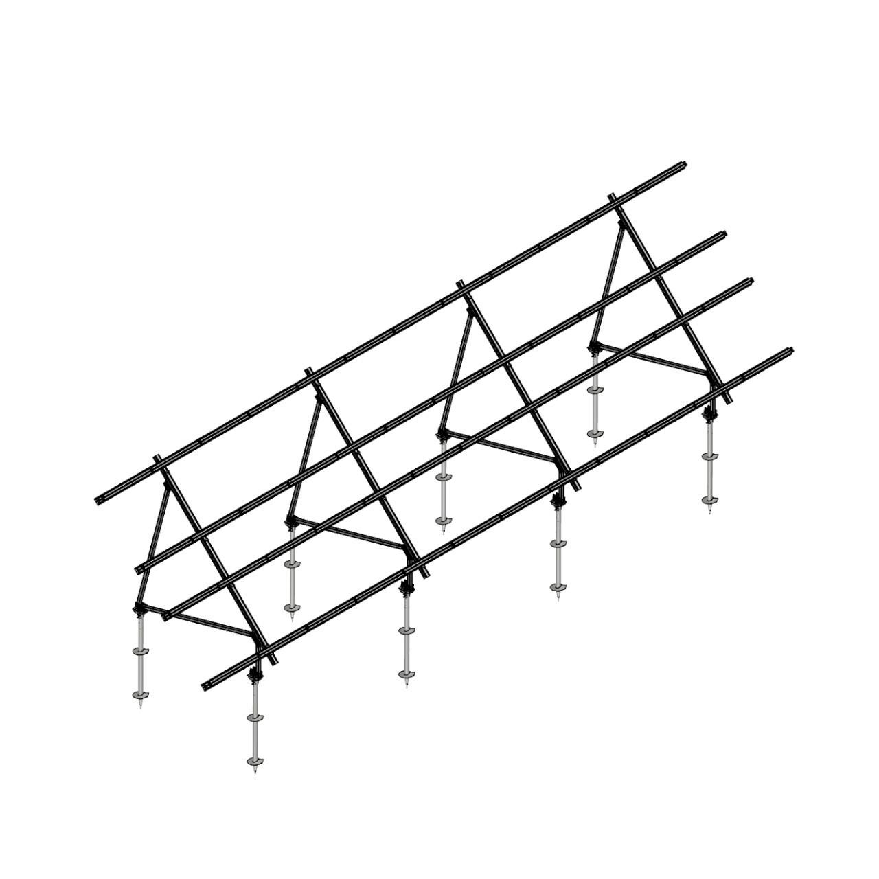 Schletter - PVMax 2Vx12-45deg-Screw-No-Panels