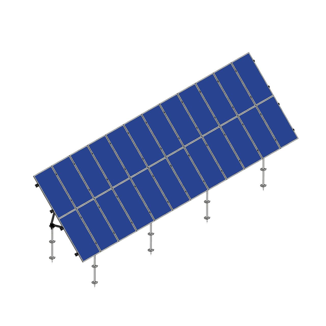 Schletter - PVMax 2Vx12-45deg-Screw-Solid-Panels