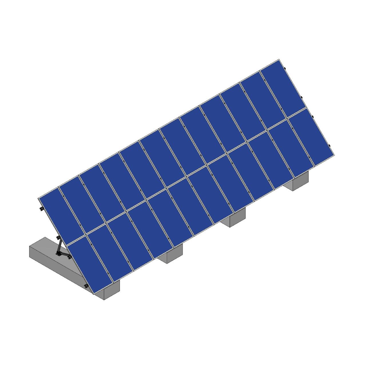 Schletter - PVMax 2Vx12-45deg-Concrete-Solid-Panels