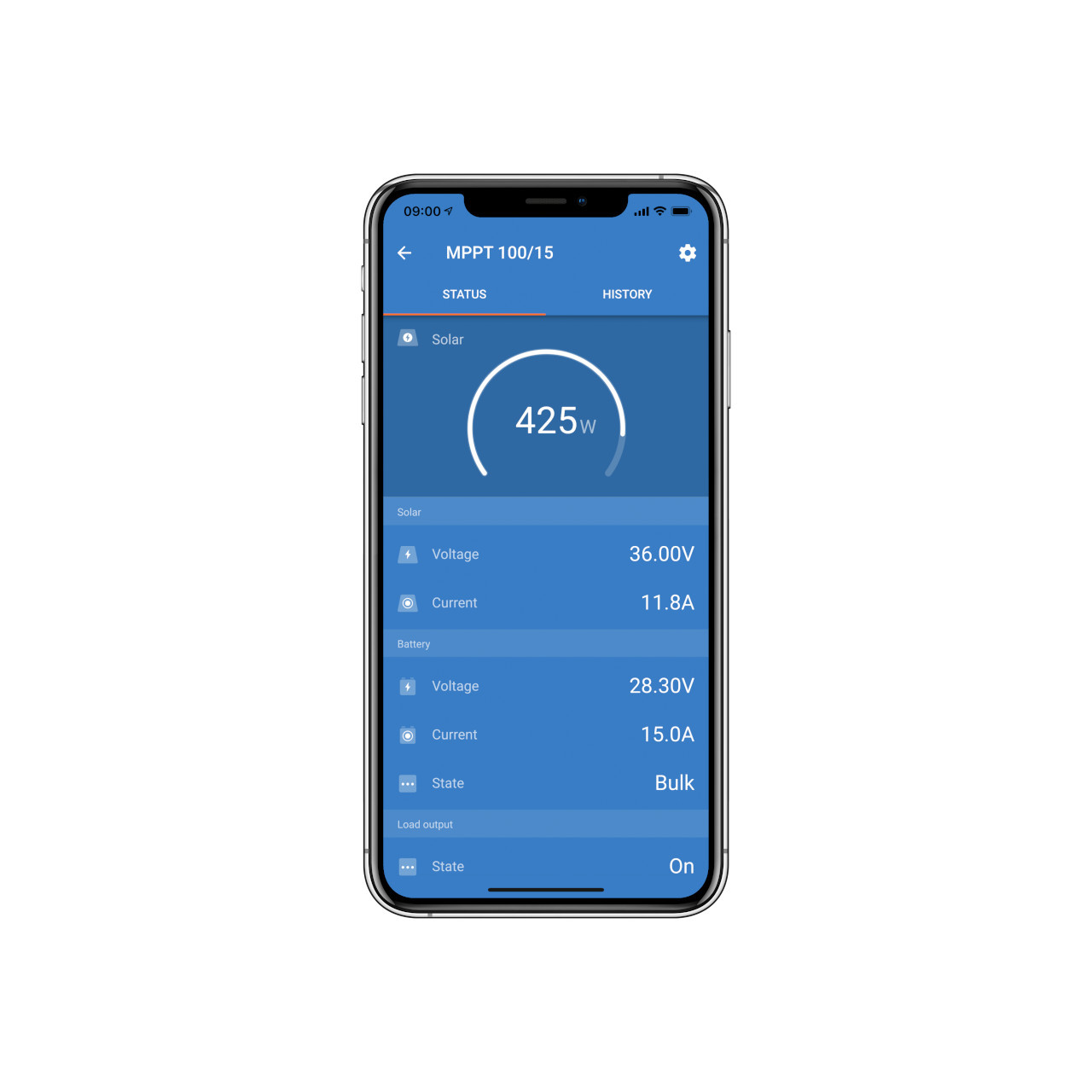 Victron Energy - VictronConnect - Phone Status