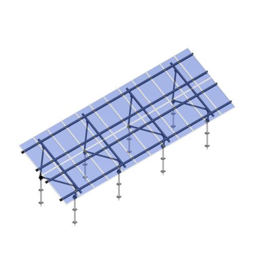 Schletter - PVMax 2Vx12-30deg-Screw-Transparent-Panels