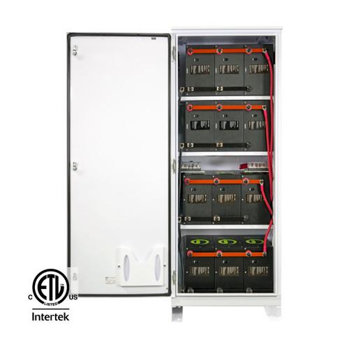 SimpliPhi - BOSS.12 - Battery Cabinet - Door Open