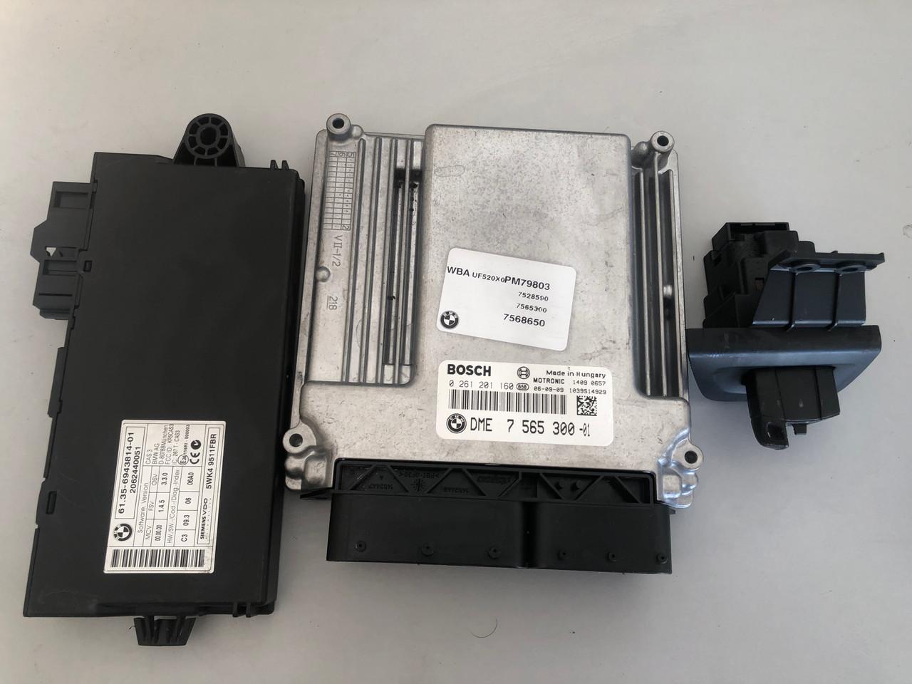 BMW E87 120I USED ENGINE IMOBILIZER EWS KIT DME 7 565 300 - 01
