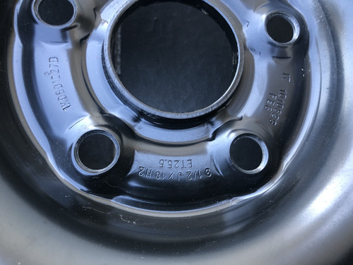 VW GOLF MK5 MK6 VW SCIROCCO VW CADDY AUDI TT 8J USED SPACE SAVER RIM 1K0601027B