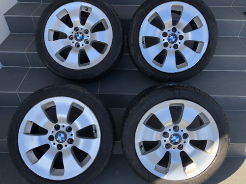 BMW E90 USED 17 INCH MAG WHEELS WITH RUN FLAT TYRES 6 775 596-13
