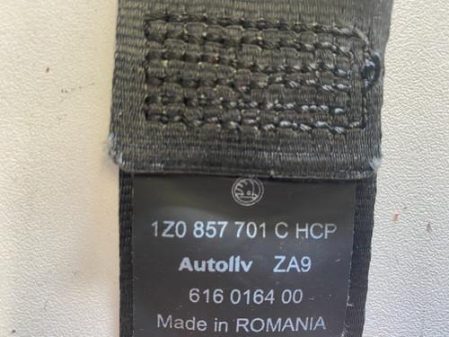 SKODA OCTAVIA USED LH SEAT BELT 1Z0 857 701 C