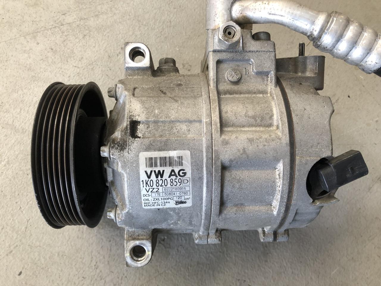 VW GOLF MK5 MK6 PETROL MODELS USED AC COMPRESSOR 1K0 820 803 D